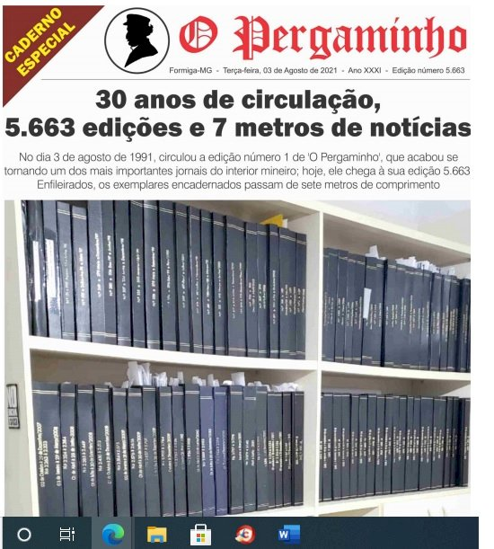 """""""O Pergaminho"""": 30 anos de circulação, 5.663 edições"""